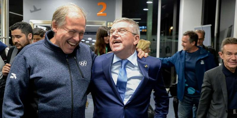 Thomas Bach arrives in Argentina