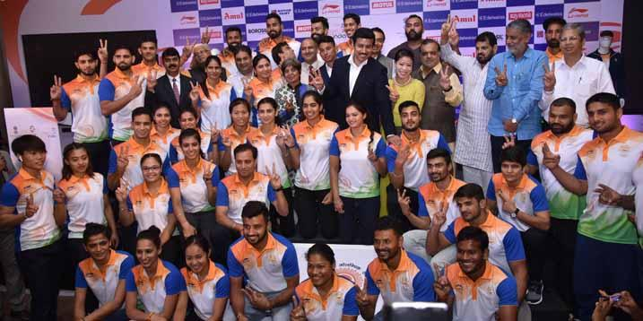 Indian Olympic Association gives warm send-off to the to the Indian Contingent for the XVIII Asian Games Jakarta-Palembang 2018