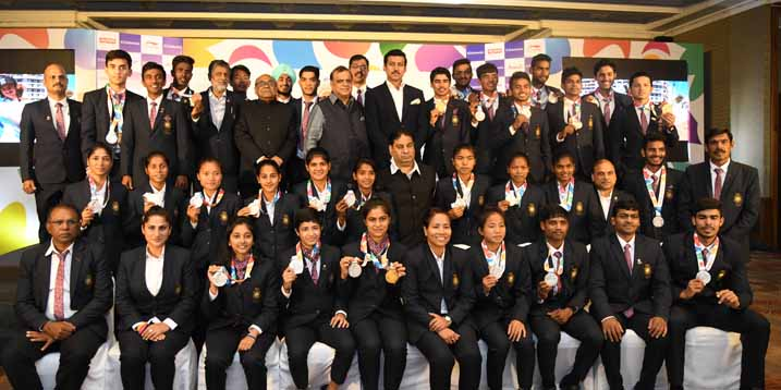 Indian Olympic Association felicitates the Youth Olympic Games Medallists